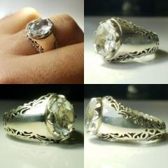 در نجف اصل الماس تراش با رکاب دست ساز و نقره درجه یک ۹۲۵