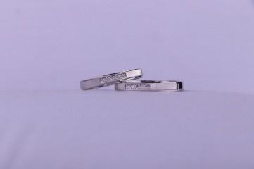 حلقه ست جواهری طرح پلاتین عیار ۹۲۵