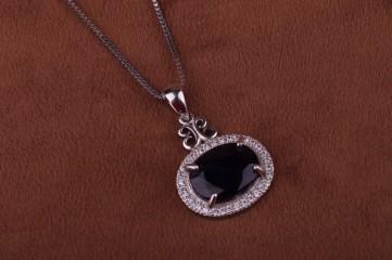 گردنبند جواهری یاقوت کبود آفریقایی اصل عیار ۹۲۵