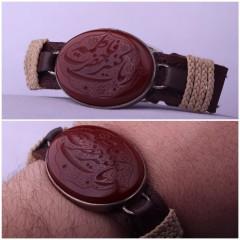 دستبند چرم