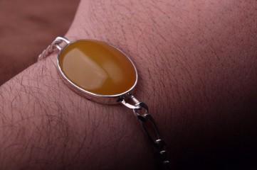 دستبند شرف شمس با زنجیر نقره