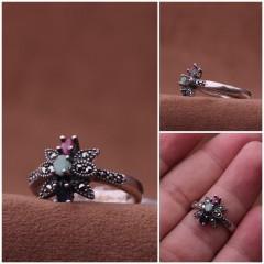 انگشتر جواهر اصلی نقره