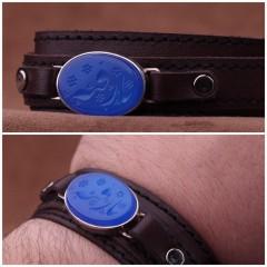 دستبند عقیق_ابی خطی